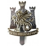 Exeter University OTC Anodised Aluminium Cap Badge