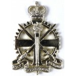 Army Apprentices School E11R Anodised Aluminium Cap Badge