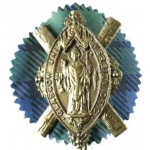 Glasgow Unuversity O.T.C. Brass Cap Badge With Backing
