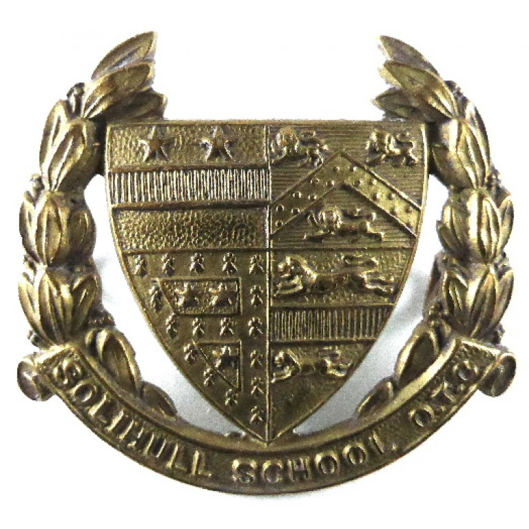 Solihull School O.T.C. Brass Cap Badge