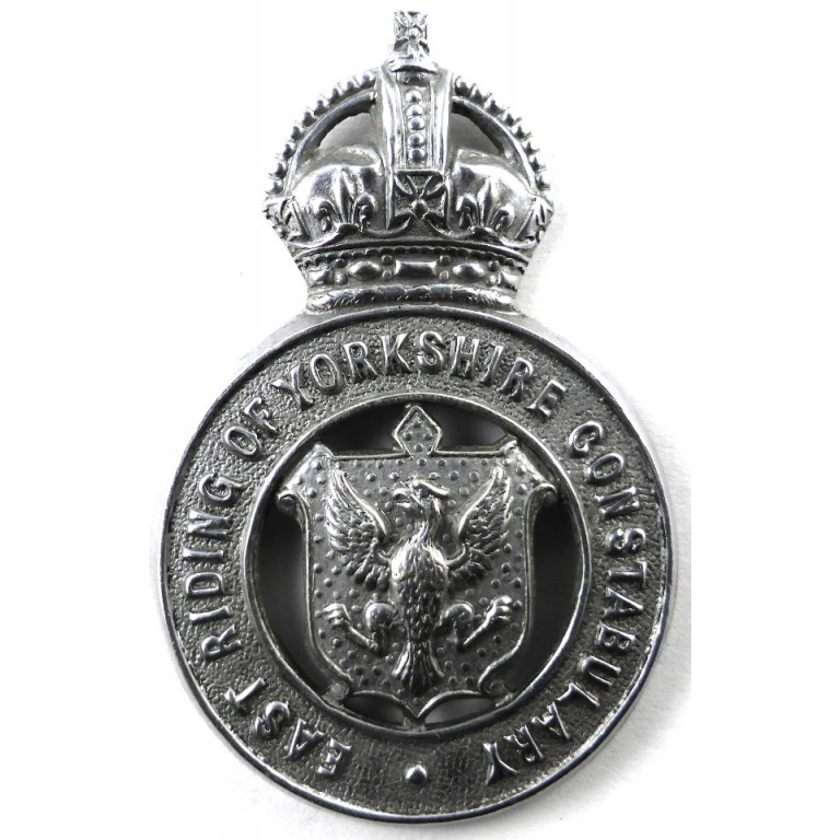 East Riding Of Yorkshire Constabulary Chrome Cap Badge