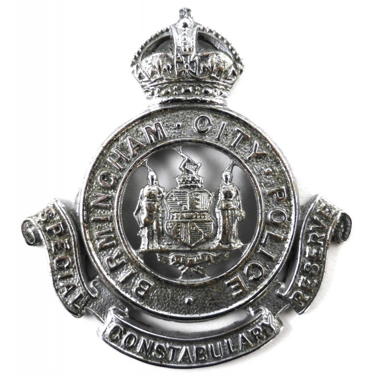Birmingham Special Constabulary Reserve Chrome Cap Badge