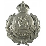 Glamorgan Constabulary White Metal Cap Badge