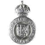 Cardiff City Police Chrome Cap Badge Pre 1953