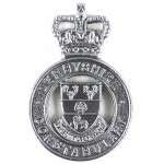 Derbyshire Constabulary Chrome Cap Badge
