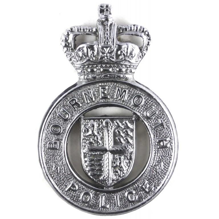 Bournmouth Police Chrome Cap Badge