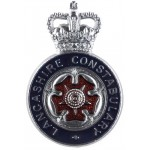 Lancashire Constabulary Chrome/Enamel Cap Badge