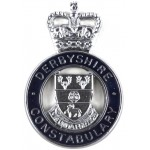 Derbyshire Constabulary Chrome/Enamel Cap Badge