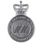 British Airports Authority Constabulary Chrome Cap Badge