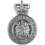 Birmingham City Police Post 1953 Chrome Cap Badge