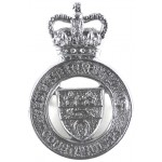 Leicester & Rutland Constabulary Chrome Cap Badge