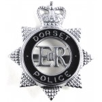 Dorset Police Chrome/Enamel Star Cap Badge