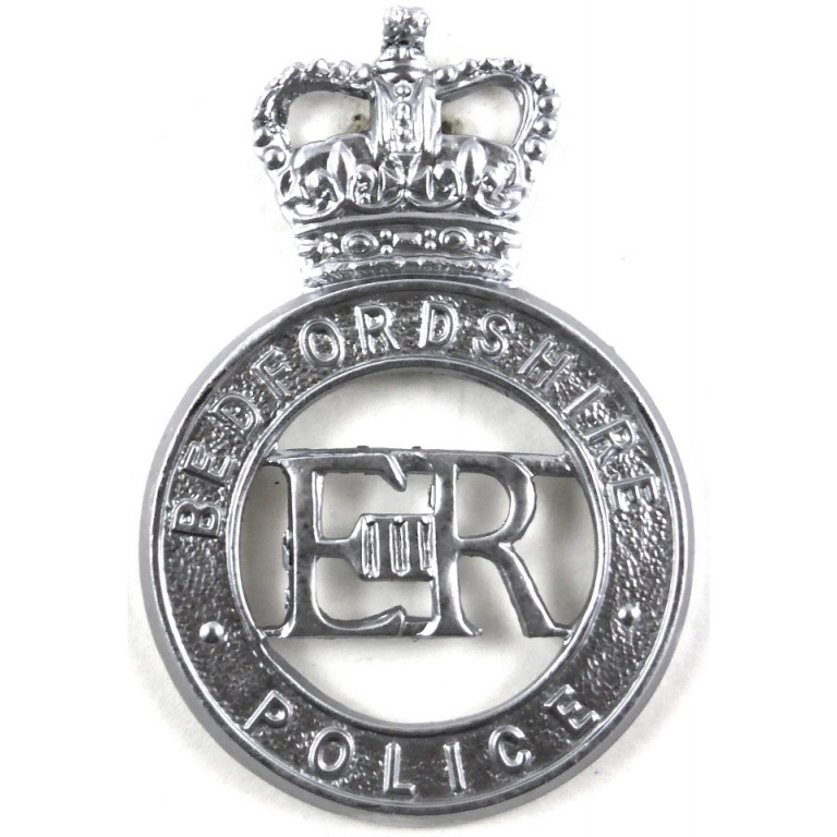 Bedfordshire Police Chrome Cap Badge