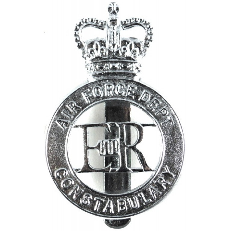 Air Force Dept. Constabulary Chrome Cap Badge