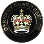 Germany Guard Service Brass/Enamel Cap Badge