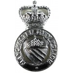 Manchester City Police Chrome Cap Badge