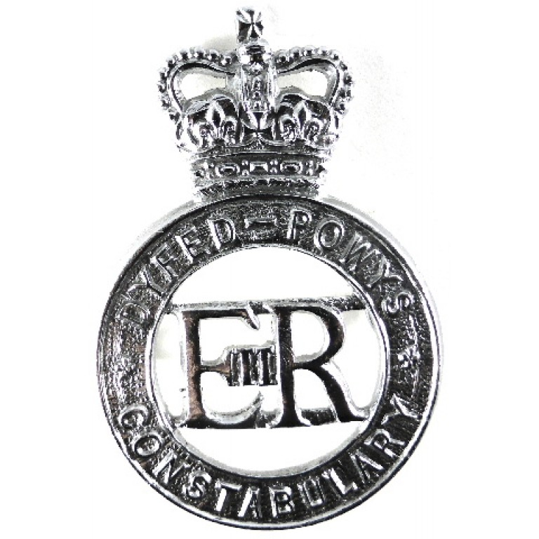 Dyfed-Powys Constabulary Chrome Cap Badge