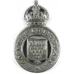 Cornwall Constabulary Chrome Pre 1953 Cap Badge