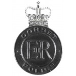 Dorset Police Black/Chrome Cap Badge