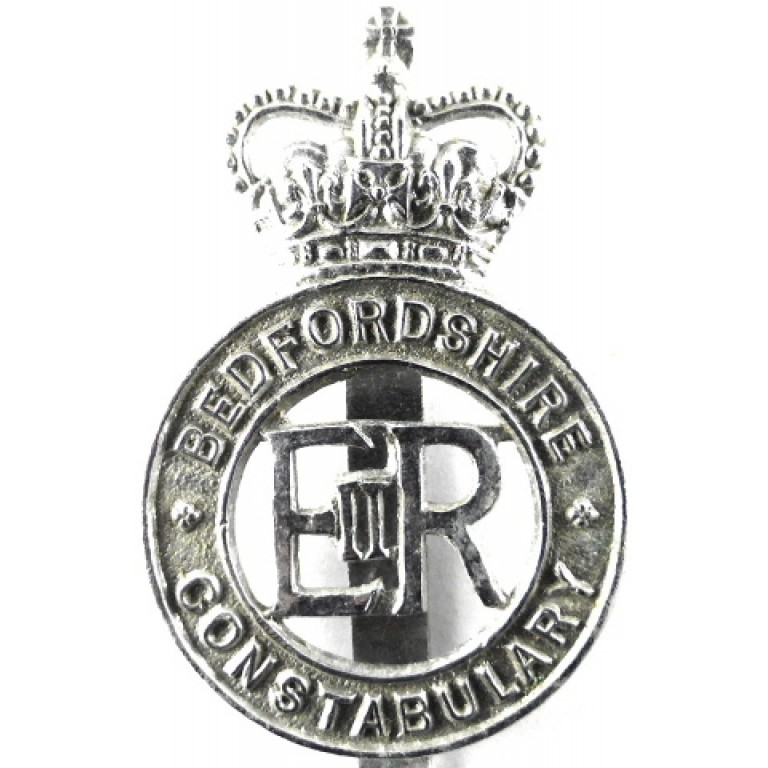 Bedfordshire Constabulary Chrome Cap Badge