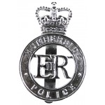 Humberside Police Post 1953 Chrome Cap Badge