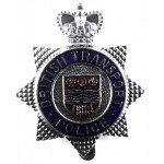 British Transport Police Chrome/Enamel Cap Badge