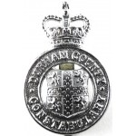 Durham County Constabulary post 1953 Chrome Cap Badge