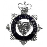 Leeds City Police Chrome/Enamel Cap Badge