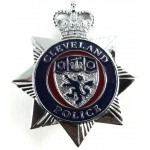 Cleveland Police Chrome/Enamel Star Pattern Cap Badge