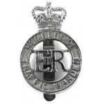 Humberside Traffic Warden Chrome Cap Badge