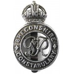 Breconshire Constabulary GV1R Chrome Cap Badge