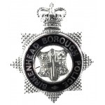 Birkenhead Borough Police Chrome/Enamel Star Cap Badge