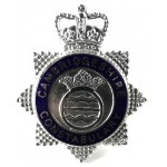 Cambridgeshire Constabulary Chrome/Enamel Star Cap Badge