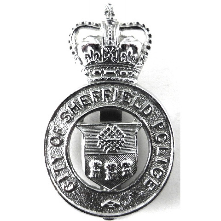 City Of Sheffield Police Chrome Cap Badge
