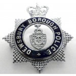 Dewesbury Borough Police Chrome/Enamel Star Cap Badge