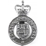 Bristol Constabulary Chrome Cap Badge Badge