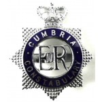 Cumbria Constabulary Chrome/Enamel Cap Badge