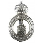 Bootle County Borough Police Chrome Cap Badge