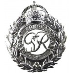 Devon Constabulary GV1R Chrome Cap Badge