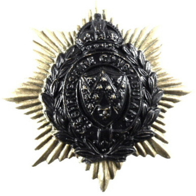 Shropshire Constabulary Brass Cap Badge