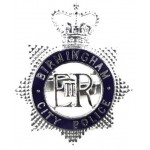 Birmingham City Police Chrome/Enamel Cap Badge