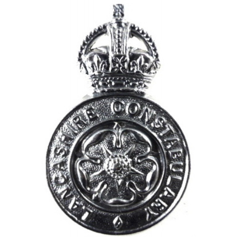 Lancashire Constabulary Pre 1953 Chrome Cap Badge