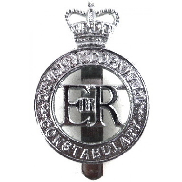 Devon & Cornwall Constabulary Chrome Cap Badge