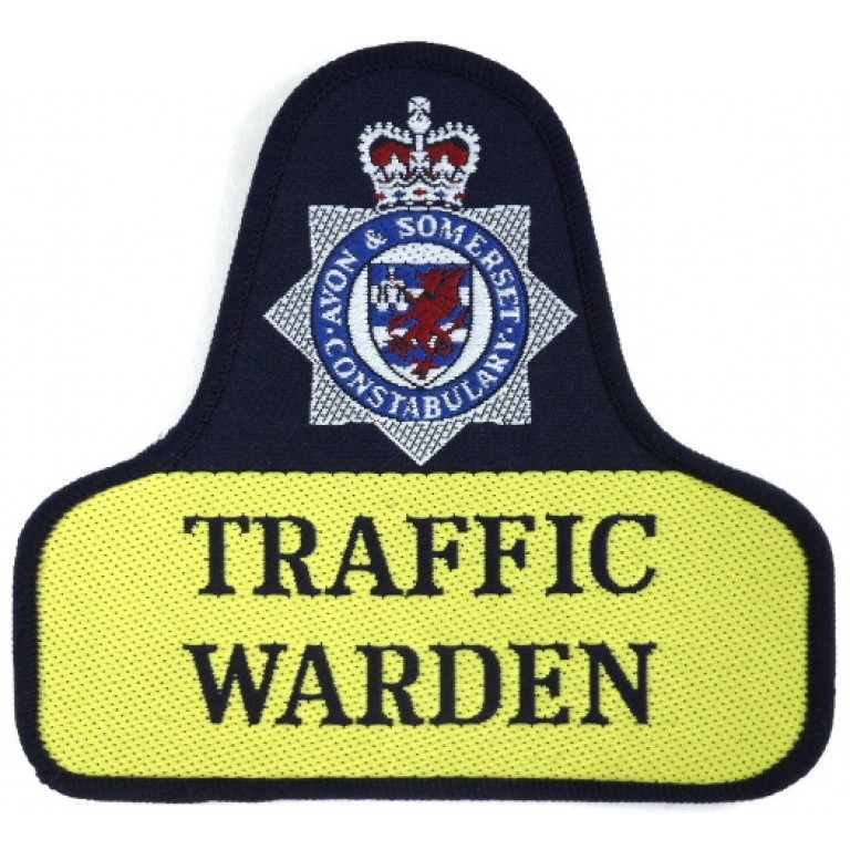 Avon & Somerset Constabulary Traffic Warden Pullover Badge