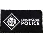 Strathclyde Police Cloth Pullover Patch Black Background