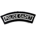Police Cadet Cloth Shoulder Title Badge