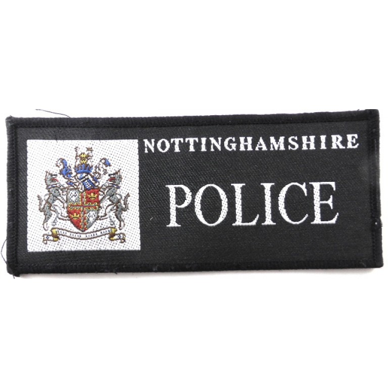 Nottingham Police Cloth Sweater Patch