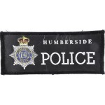 Humberside Police Cloth Sweater Patch 121mm Long