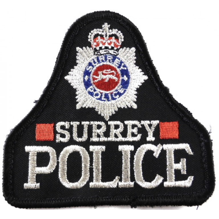 Surrey Police Cloth Sweater Patch