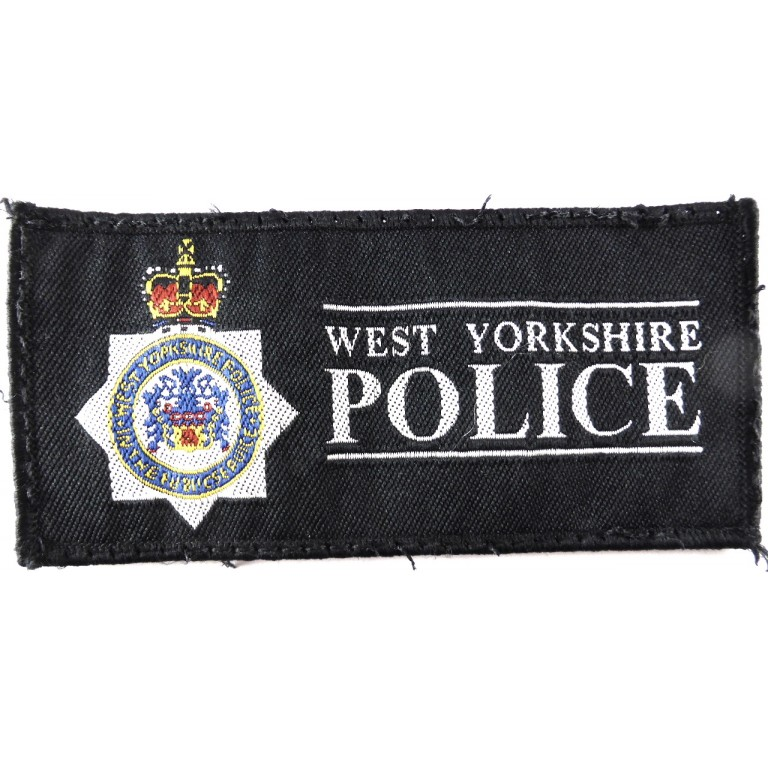 West Yorkshire Police Cloth Sweater Patch 125mm Long